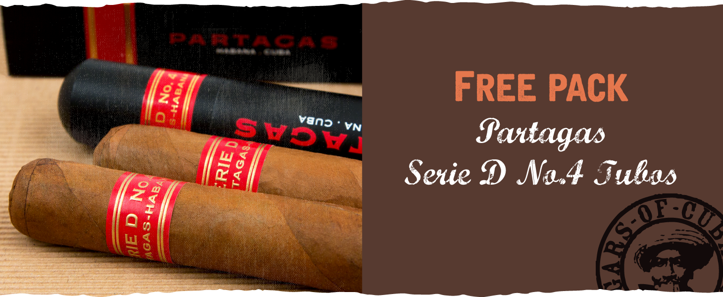 Free pack of 3 Partagas Serie D No.4