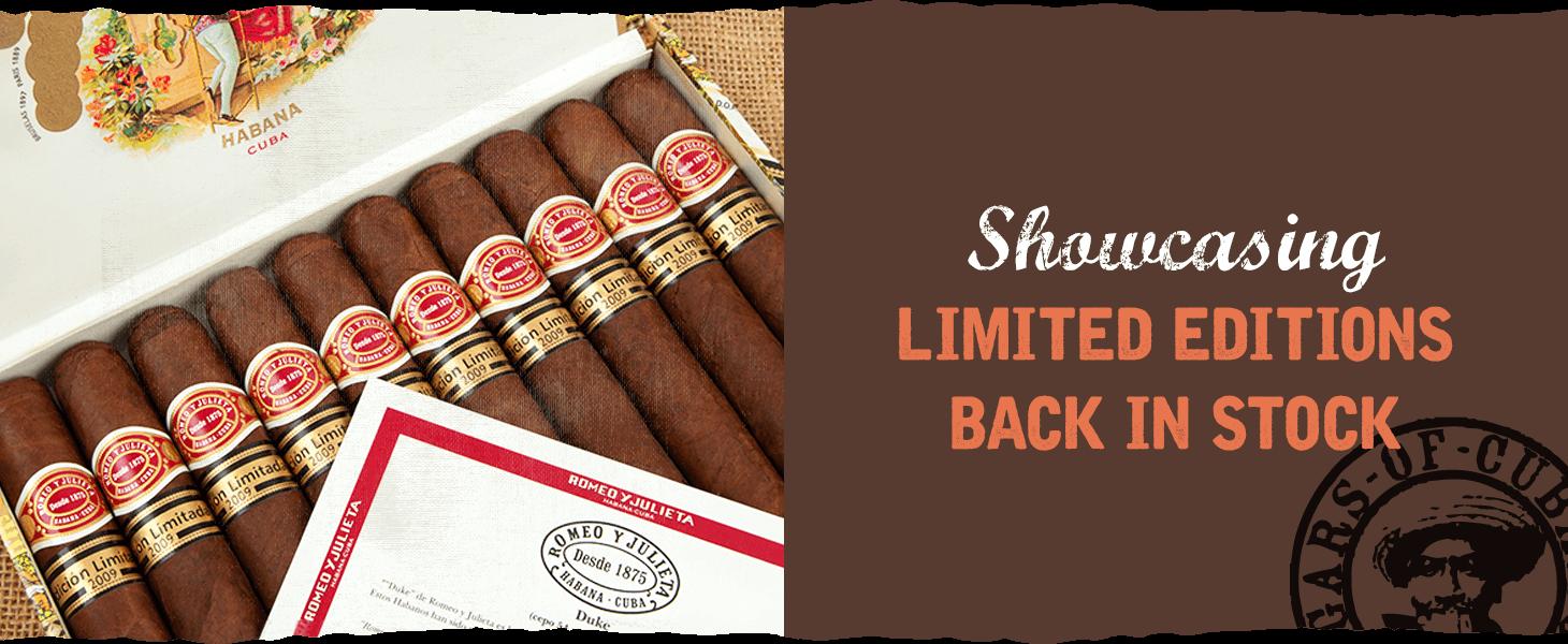 Restocked Limited Edition Cigars