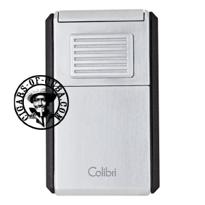 Colibri Lighter Astoria III Brushed Chrome & Black - 80729 Box