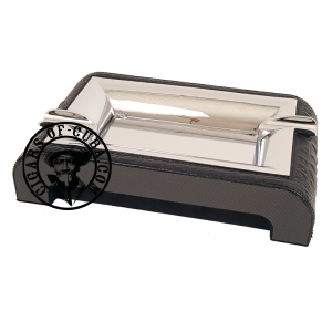 Gentili Ashtray - Carbon & Leather Crocodile Style - Black Box