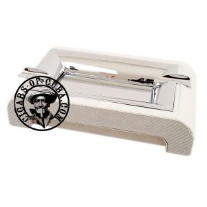 Gentili Ashtray - Fiber Glass & Leather Ostrich Style - White Box