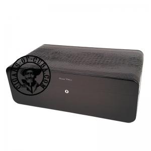 Gentili Humidor - Carbon & Crocodile Style - Limited Edition - Sv150 - Black Box
