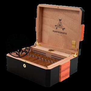Montecristo 80 Aniversario Humidor Black Box of 30