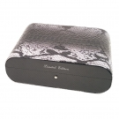 Gentili Humidor - Carbon & Leather Python Style - Limited Edition - Sv10 - Dark Grey Box