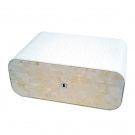 Gentili Humidor - Mother Of Pearl & Leather Ostrich Style - Sv30 - White Box