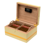 H.Upmann Global Brand Wooden Humidor + 25 Magnum 46 + 25 Half Coronas Box of 36