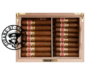 Romeo y Julieta Global Brand Wooden Humidor 2 + 21 Wide Churchills + 24 Petit Churchills